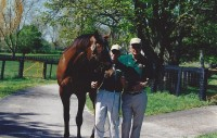 Derby Winner, Unbridled with Grooms