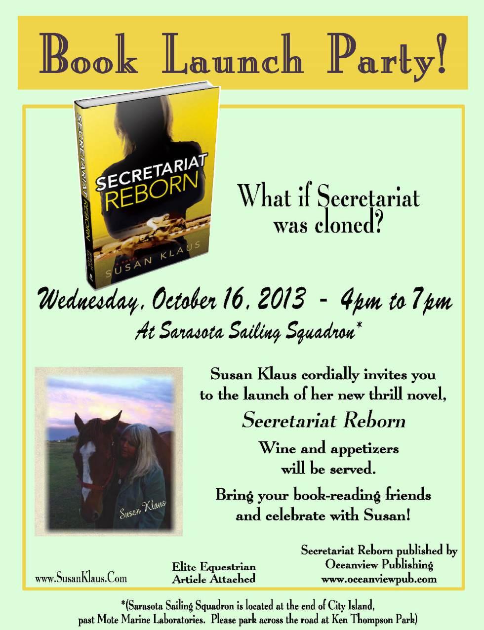 Secretariat Reborn Book Launch - Susan Klaus.com
